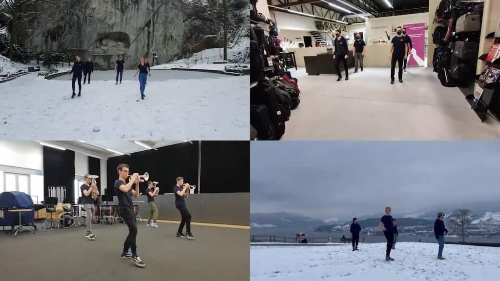 Luzerner Jugend Brassband covert Jerusalema und tanzt dazu
