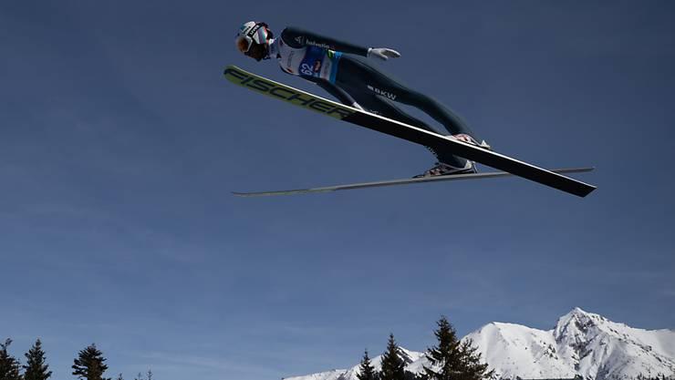Will heute auch auf der Normalschanze in Seefeld hoch hinaus: Killian Peier strebt seine zweite WM-Medaille nach Bronze von der Grossschanze an