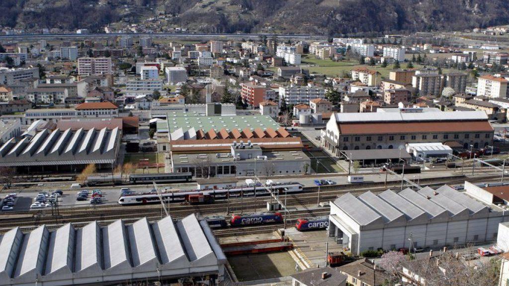 Der Güterbahnhof San Paolo ist ein wichtiger Betriebspunkt für SBB Cargo, deren Werkstätten - hier im Bild - sich in der Nähe befinden. (Archivbild)