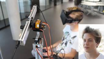 Der 19-jährige Aargauer Informatiker, Jonas Lauener, entwickelte einen fahrbahren Roboter.