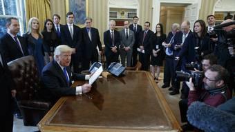 Donald Trump: Bilanz nach einer Woche.