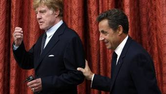 Robert Redford und Nicolas Sarkozy