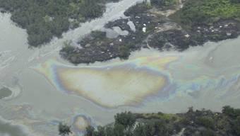 Immer wieder tritt Öl aus einer Raffinerie in der Nähe von Port Harcourt in Nigeria aus (Archiv)