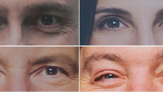 Diese Augen schauen uns von Wahlplakaten im Aargau an: vier Beispiele