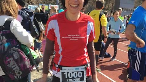 Die Aargauer Nationalrätin Yvonne Feri rennt für den guten Zweck - zum Beispiel am Badener Limmatlauf.