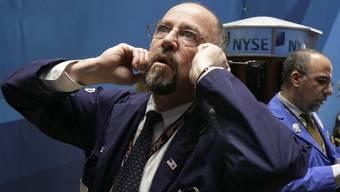 Ein Börsenhändler in New York