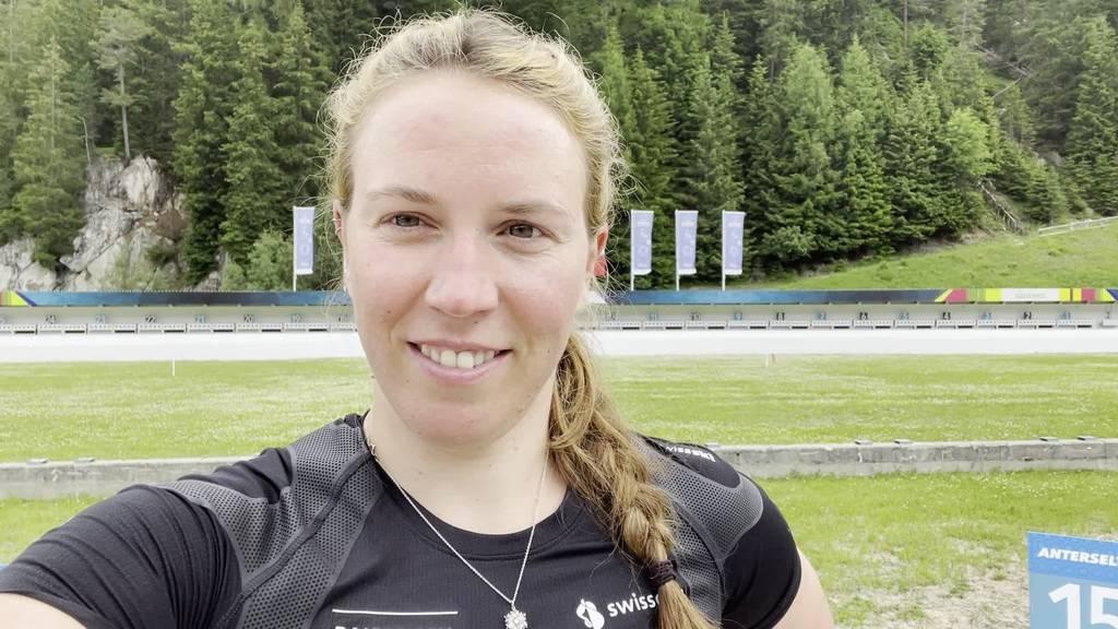 Schiessen und schwitzen mit Lena Häcki