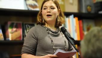 Autorin Edith Hiltbrunner in der Oltner Buchhandlung Schreiber.