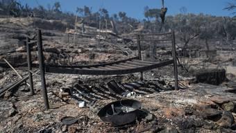 Grosse Teile des Flüchtlingslagers wurden durch die Brände zerstört.