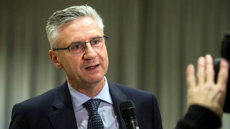 Nationalrat Andreas Glarner spricht am SVP-Kantonalparteitag am Mittwoch, 23. Januar 2019, in Rothrist.