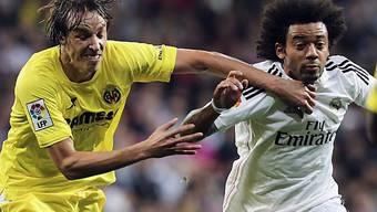 Villarreal (hier Vieira gegen Marcelo) knöpfte Real einen Punkt ab