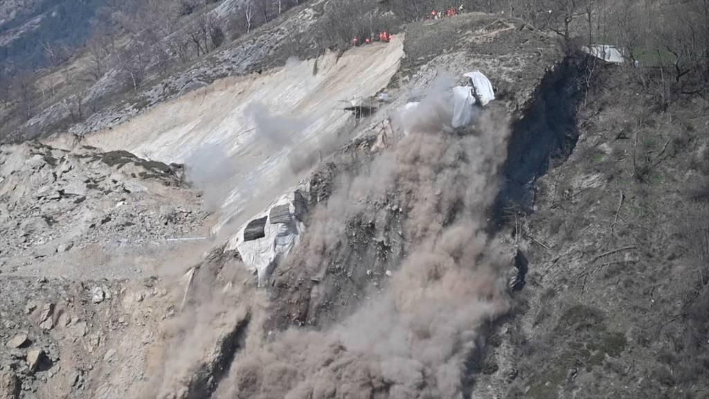 Felssprengung in Raron (VS): Teile des Dorfes evakuiert