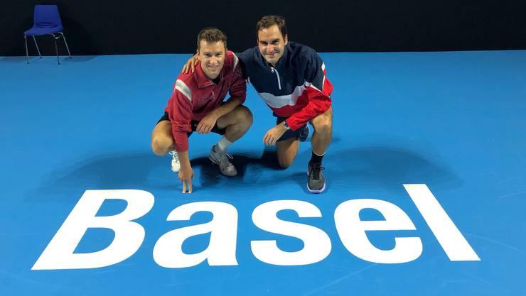 Federer und Chiudinelli ein letztes Mal am gemeinsamen Heimturnier