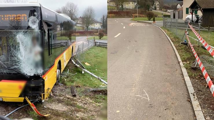Am Mittag des 25. Dezembers ist in Aedermannsdorf ein Postauto aus noch unbekannten Gründen von der Hauptstrasse abgekommen.