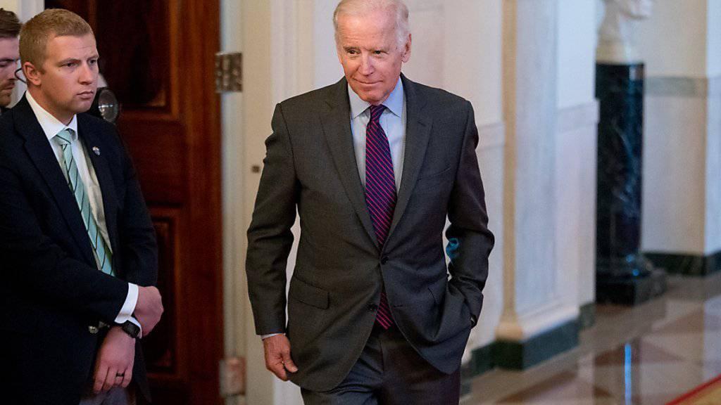 Der amtierende US-Vizepräsident Joe Biden steht nicht zur Verfügung als Chef der demokratischen Partei.