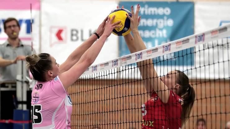 Sm'Aesch-Spielerin Megan Cyr und ihr Team überzeugten im ersten Spiel des Jahres nicht. (Archiv)