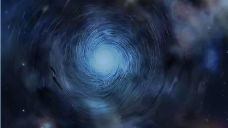 Eine künstlerische Darstellung, wie die Wirbel in den ersten Galaxien des Universums ausgesehen haben könnten.