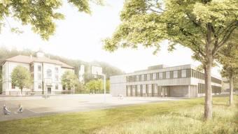 Das neue Gebäude, das an die Stelle des heutigen Schulhauses Süd, kommen soll, beherbergt eine Doppelturnhalle und diverse Schulräume.
