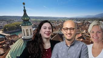 Laura Gantenbein, Christof Schauwecker und Stefanie Ingold Rechsteiner kandidieren für das Präsidium.