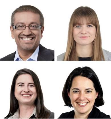 oben links: Orun Palit oben rechts: Manuela Ernst unten links: Ruth Jo. Scheier unten rechts: Yvonne Hiller