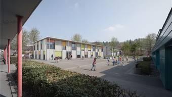 Fislisbach: Die Arbeiten zum Erweiterungsbau starten am 3. März. Visualisierung/zvg