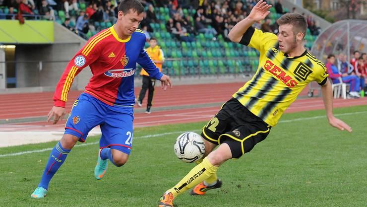 Trotz zwei Toren von Admir Seferagic (links) gewann am Ende OB. Zinke