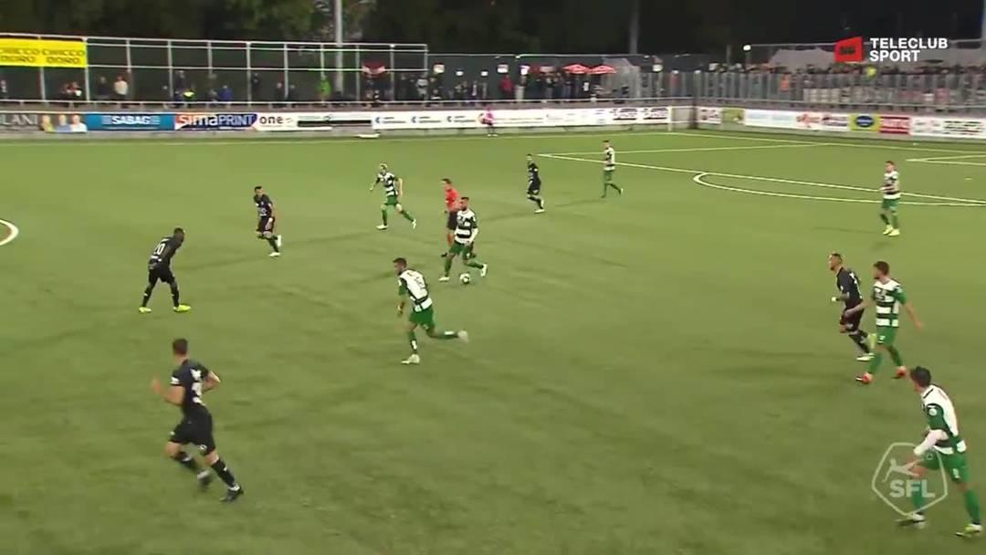 Challenge League 2019/20, 10. Runde: SC Kriens - FC Aarau, 60. Minute