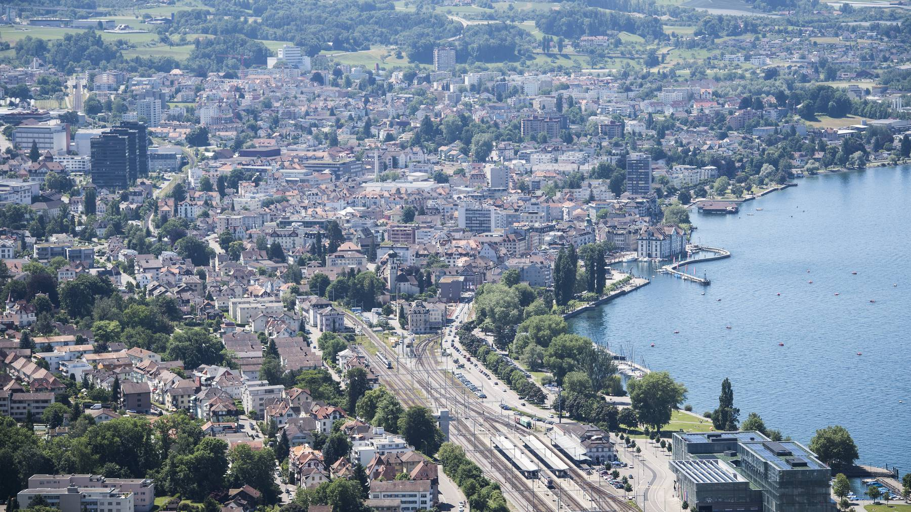Die Bahnstrecke zwischen Goldach und Rorschach-Stadt wird doppelspurig. (Archivbild)