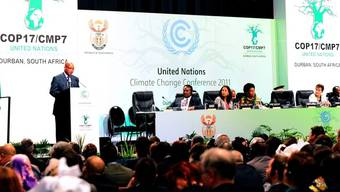 Südafrikas Präsident Jacob Zuma eröffnete gestern Montag die Konferenz in Durban