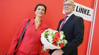 Übernehmen das Erbe von «Die Linke»-Aushängeschild Gregor Gysi: Sahra Wagenknecht und Dietmar Bartsch.Kay Nietfeld/Epa/Keystone