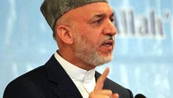 Afghanistans Präsident Hamid Karzai