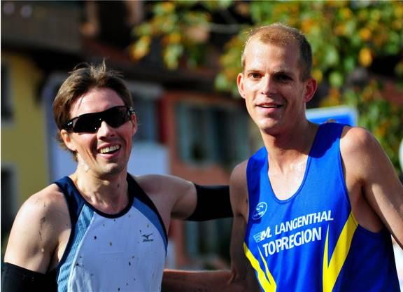 Der Langenthaler Fabian Kuert (rechts) gewann vor dem Inser Roman Guirey.