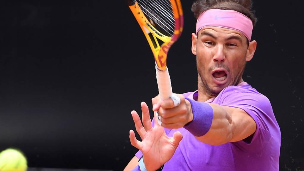 Voller Fokus nun auf den Halbfinal: Rafael Nadal revanchiert sich in Rom bei Alexander Zverev für die Niederlage vor Wochenfrist in Madrid.