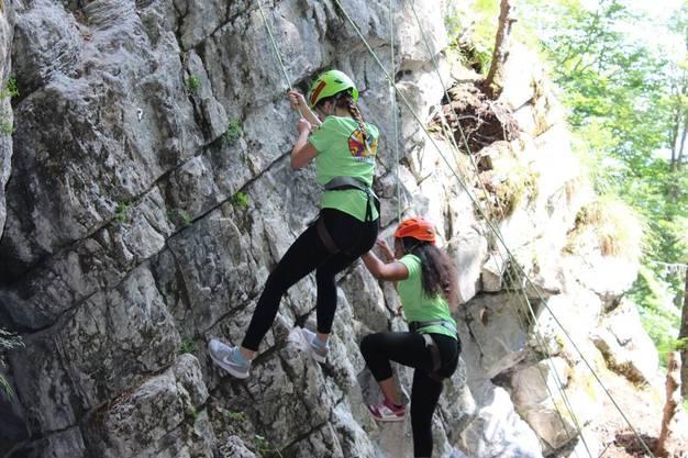 Klettern am Fels war erstmals im Programm des Lagers