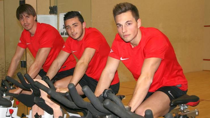 Silvan Büchli, Kana Onur und Luca Meier (v.l.n.r) sind wieder fit und werden den FCS auf die Rückrunde hin verstärken.