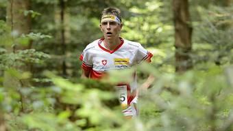 Matthias Kyburz läuft an der Weltmeisterschaft im Orientierungslauf in Schweden im Sprintwettkampf auf den zweiten Platz.