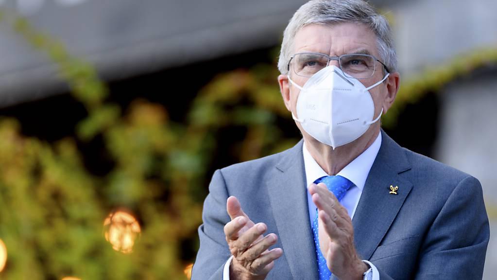 IOC-Präsident Thomas Bach bedankt sich für den Support