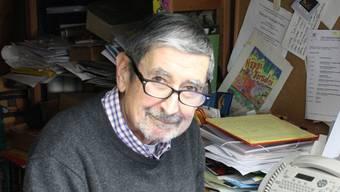 Der Cartoonist, Illustrator, Zeichner und Maler Jürg Furrer in seinem Atelier in Seon. Markus Christen