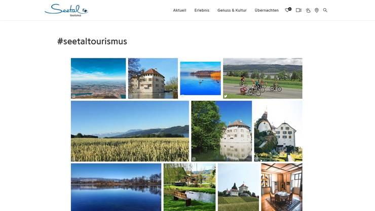 Instagram ist im Tourismus sehr wichtig und gerade für Geheimtipps eine Chance. Die Seite bindet den Dienst ein. Screenshot