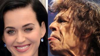 Katy Perry und Mick Jagger (Archiv)