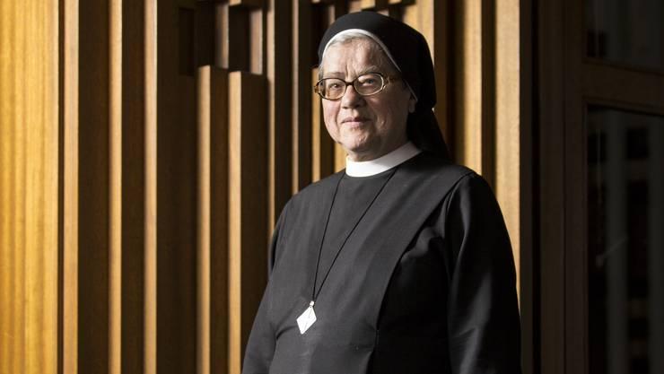 Simone Buchs ist Priorin des Klosters Heiligkreuz in Cham. Dort lebt sie mit knapp 60 weiteren Ordensfrauen.