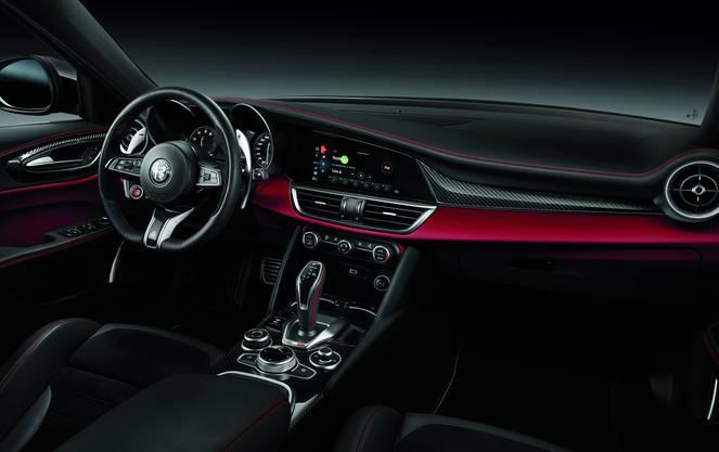 Cockpit Alfa Romeo Giulia QV.