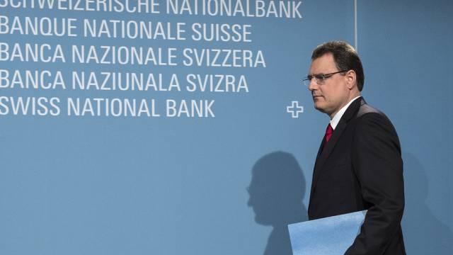 Nationalbank-Chef Thomas Jordan beim Medien-Gespräch in Bern