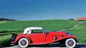 Kam in Monterey (Kalifornien) unter den Hammer: Der Mercedes-Benz 500 K Cabriolet A von Curt Alexander Bally, produziert 1934 in Sindelfingen bei Stuttgart.
