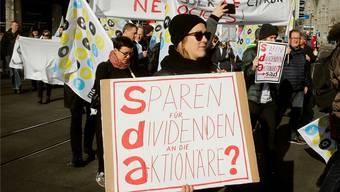 SDA-Mitarbeiter streikten im Januar – jetzt schrillen bei der Redaktion erneut die Alarmglocken.