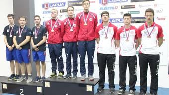 Im Liegendwettkampf Gewehr 50m hat das Schweizer Trio Christoph Dürr, Manuel Lüscher und Robin Frund die Bronzemedaille gewonnen hinter Norwegen und Frankreich.