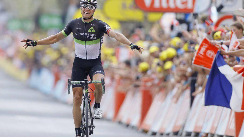Fuhr in der drittletzten Etappe der 104. Tour de France solo zum Sieg: der Norweger Edvald Boasson Hagen