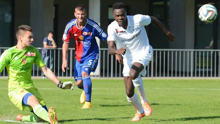 Dimitri Oberlin - noch im FC Zürich-Dress - gegen seine aktuelle Mannschaft FC Basel