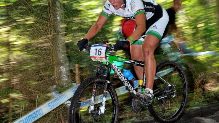 Gute Erinnerungen: Nathalie Schneitter auf dem Weg zum ersten Weltcupsieg in Champéry im letzten Juli. Foto: key