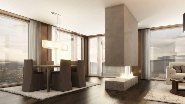 Edles Wohnen mit Aussicht im Limmat Tower wird ab 2015 möglich (Visualisierung)